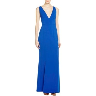 Laundry by Shelli Segal Womens Evening Dress Crepe Sleeveless