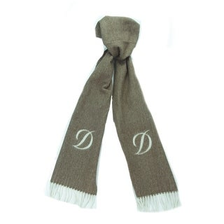 St. Dupont Paris 100WS-L MA Brown/Ivory 100% Cashmere Classic Mens' Scarf