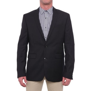 Bar III  Herringbone Extra Slim Fit Jacket Basic Jacket Black