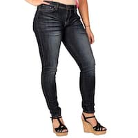 Zana-Di Womens Junior Plus Fashion Jeans, Dark Stonewash