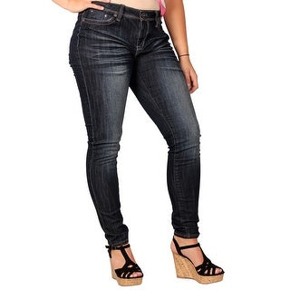 Zana-Di Womens Junior Plus Fashion Jeans, Dark Stonewash (3 options available)