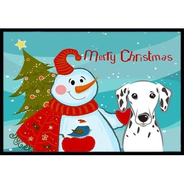 Carolines Treasures BB1830JMAT Snowman With Dalmatian Indoor & Outdoor Mat 24 x 36 in.