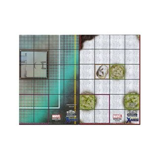 Marvel Heroclix Wolverine and the X-Men Danger Room/ Canadian Wilderness Double Sided Map - multi