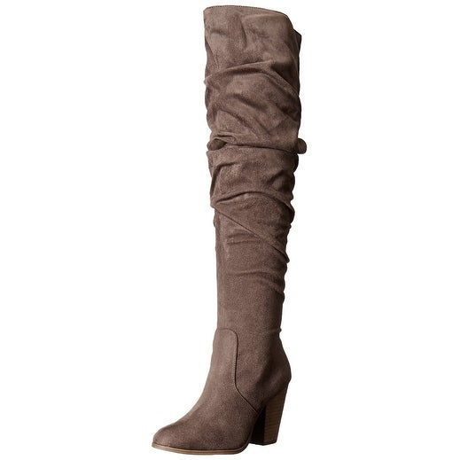 Carlos by Carlos Santana Womens Hazey Fabric Closed Toe Over Knee Fashion Boots