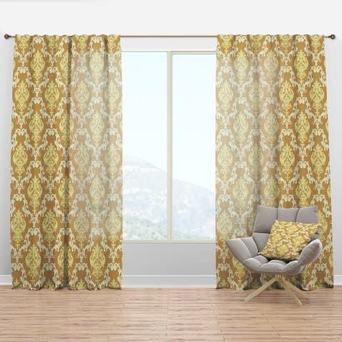 Designart 'Floral Pattern' Modern & Contemporary Curtain Panel