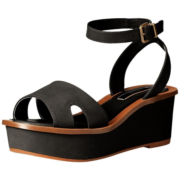 kensie Womens Tray Open Toe Casual Slingback Sandals