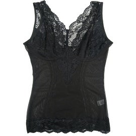 Women Shapewear Lace Camisole Firm Control Tank Tops Black