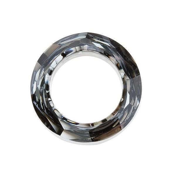 Swarovski Elements Crystal, 4139 Cosmic Ring Pendant 14mm, 1 Piece, Crystal Silver Night