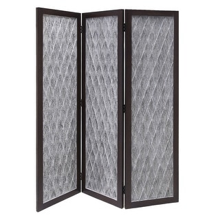 Link to Wooden 3 Panel Room Divider with Textured Diamond Pattern, Gray and Black Similar Items in Outdoor Sofas, Chairs & Sectionals