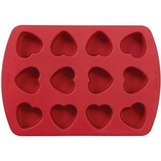 """Mini Silicone Mold-12 Cavity Petite Heart 1.5""""X1.5""""X1"""""""