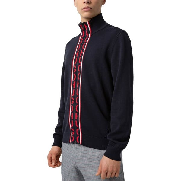 XXLarge Sale ! Mens Hugo Boss Cotton  Zip Jumper  Fleece Long Sleeve Black Size