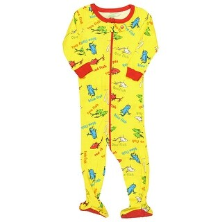 Intimo Boys' Dr. Suess One Fish Two Fish Footed Sleeper Pajamas