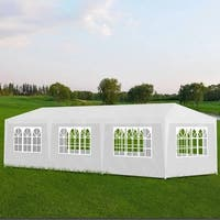 vidaXL 10' x 30' White Party Tent with 8 Walls