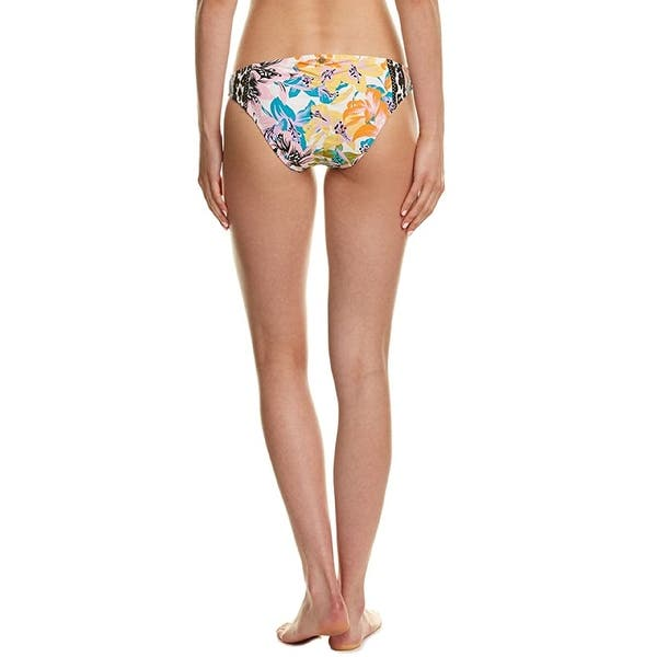 Nanette Lepore Patchwork Siren Women/'s Floral Print Hipster Bikini Swim Bottom