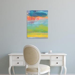 Easy Art Prints Jan Weiss's 'Coral Sky' Premium Canvas Art