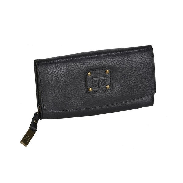 STS Ranchwear Western Wallet Womens Leather Snap O/S Black - One size