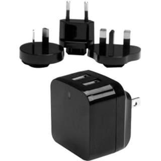 Startech.Com Travel Usb Wall Charger – 2 Port – Black – Universal Travel Adapter – International Power Adapter – Usb Cha