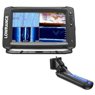 """Lowrance 000-13724-005 Elite-9 Ti with Totalscan Transom Mount Tranducer and Insight Pro By C-Map Chart Elite-9 Ti with"