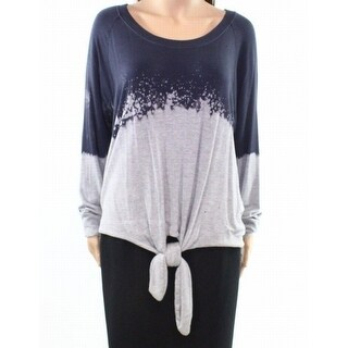 Socialite Womens Pullover Distressed Colorblock Sweater