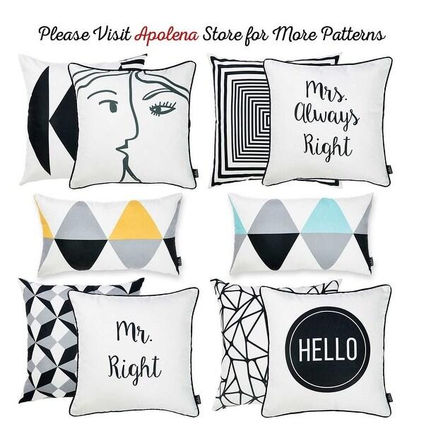 Shop Yellow Scandi Printed Lumbar Pillow Cover 12''x20'' (2 pcs in set) - 31524789