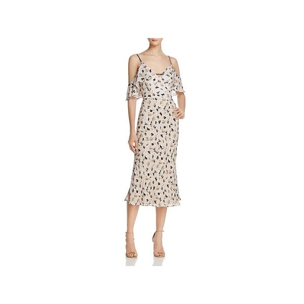 b8293667b003 Shop ABS by Allen Schwartz Womens Casual Dress Floral Cold Shoulder ...