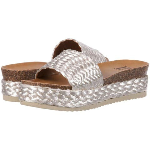 a44a15a2e LFL by Lust for Life Womens L-Park Fabric Open Toe Casual Slide Sandals