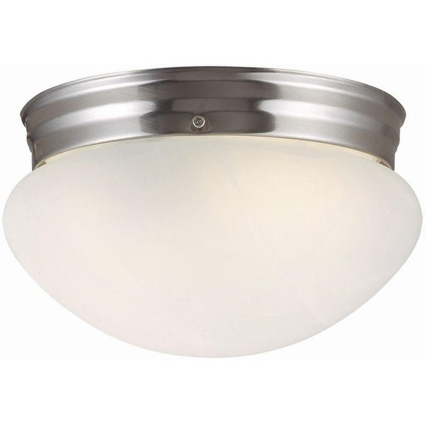 Design House 511576 Millbridge 2-Light Ceiling Mount, Satin Nickel
