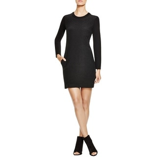 DKNY Womens Wear to Work Dress Quilted Long Sleeves