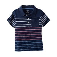 Carter's Baby Boys' Striped Slub Jersey Polo, 3 Months