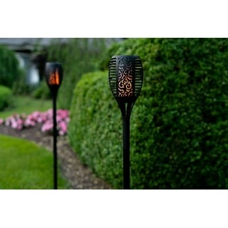 Link to Solar Powered Flickering Tiki Torch Lights, 2 Styles - 2 or 4 Pack Similar Items in Outdoor Decor