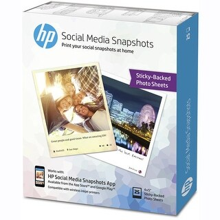 HP K6B83A Sticky Photo Paper