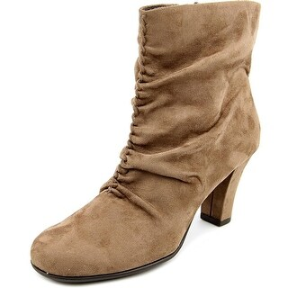 Aerosoles Good Role Women Round Toe Canvas Tan Ankle Boot