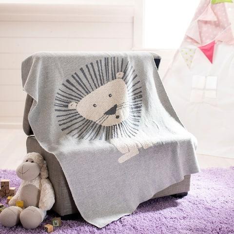 "SAFAVIEH Dandy Lion Baby Throw Blanket - 32"" x 40"" - 32"" x 40"""