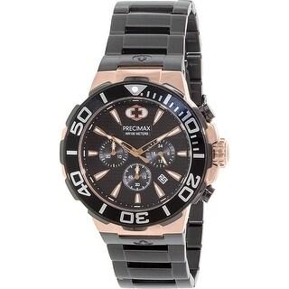 Precimax Men's Instinct Pro PX14016 Black Stainless-Steel Plated Fashion Watch