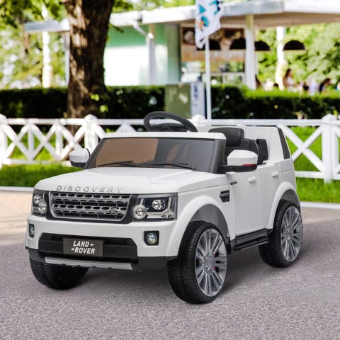 Aosom 12V Battery Kids Landrover Discovery Ride On Toy with Remote Control, Bright Headlights, & Working Suspension