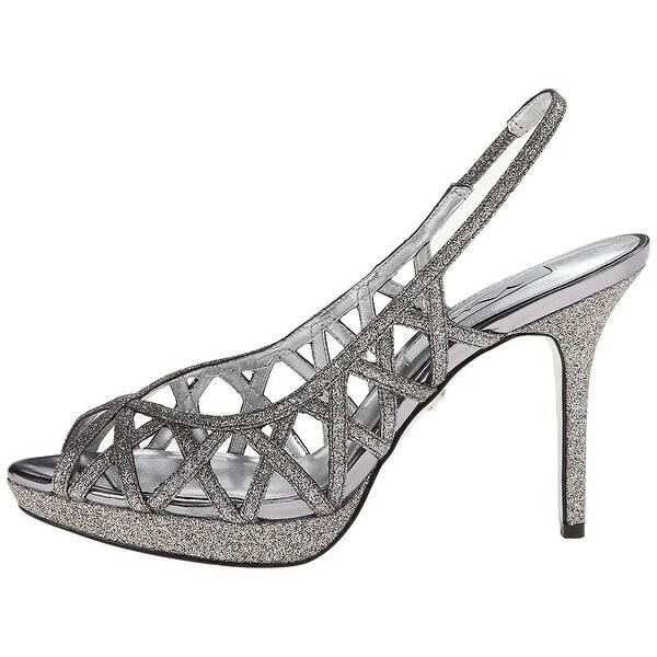 Nina Womens Fantina Peep Toe Special Occasion Slingback Sandals