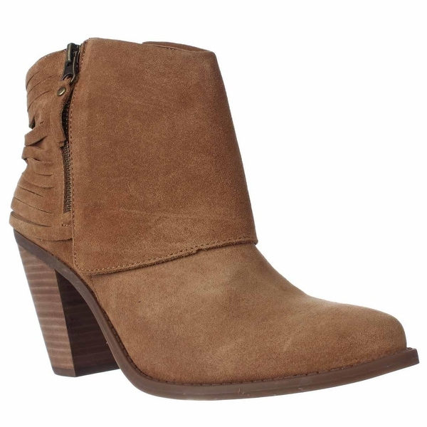 Jessica Simpson Cerrina Western Ankle Booties, Honey Brown