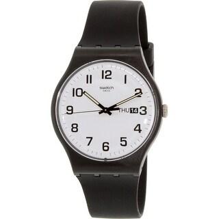 Swatch Men's Originals SUOB705 Black Silicone Swiss Quartz Fashion Watch
