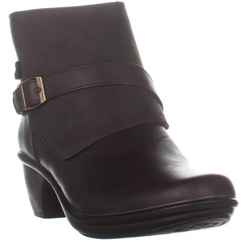 Easy Street Amanda Ankle Boots, Brown Matte - 10 US