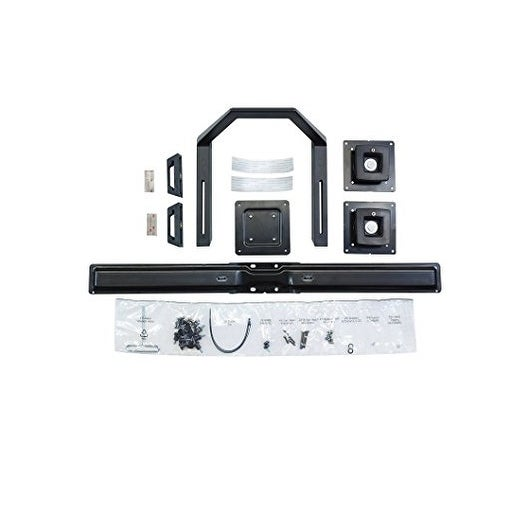 """Ergotron 97-783 Dual Monitor And Handle Kit For Up To 24"""" Monitors, Black"""
