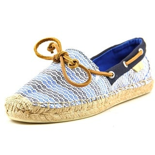 Sperry Top Sider Katama Boat Shoe Women Round Toe Canvas Blue Espadrille