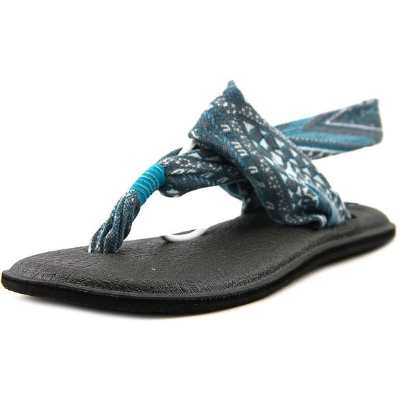 Sanuk Yoga Sling 2 Prints Women  Open Toe Canvas Blue Thong Sandal