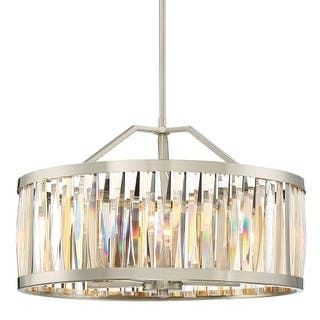 """Platinum PCBL2821 Ballet 5 Light 21"""" Wide Single Tier Drum Chandelier with Crystal Accents