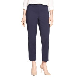 Nordstrom Navy Womens Stretch Veloria Slim Ankle Pants