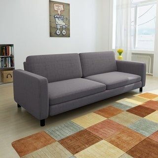 vidaXL Dark Gray 3-Seater Sofa