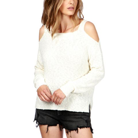 Lucky Brand Womens Pullover Sweater Cold Shoulder Sheer