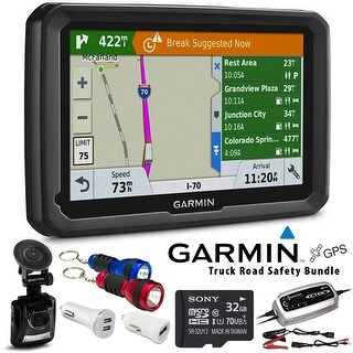 Garmin dezl 580LMT-S GPS for Trucks with North America Maps + Road Safety Accessories + (2 Year Extended Warranty)