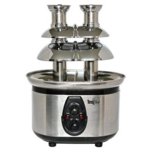 Koolatron WTF-43E Double Tower Chocolate Fountain - Stainless Steel