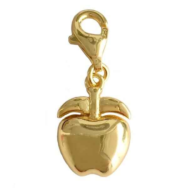 Julieta Jewelry Puffed Apple Clip-On Charm