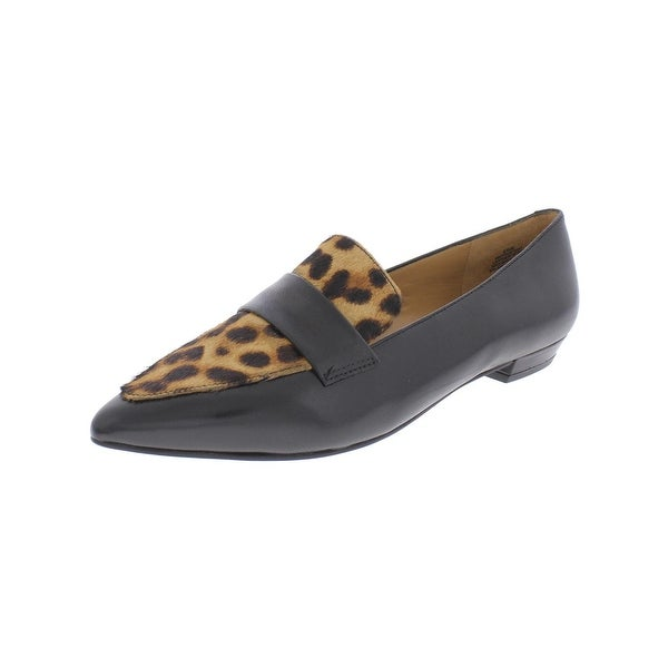 Nine West Womens True That Loafers Animal Print Slip On Black 6.5 Medium (B,M) - 6.5 medium (b,m)
